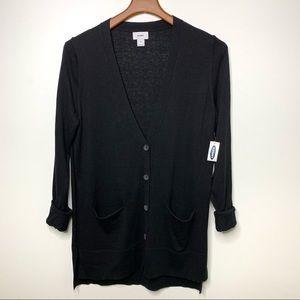 OLD NAVY Black Lightweight Cardigan Pockets Medium